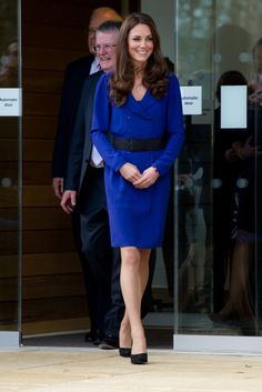 Catherine, the Duchess of Cambridge gave her first solo official remarks as a royal at the opening of the Treehouse Children's Hospice on March 19, 2012, in Ipswich, England. She wore a blue Reiss frock—the same dress that her mother, Carole Middleton, wore to the Ascot horse races in 2010.