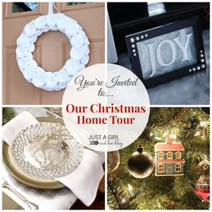 Beautiful Christmas Home Tour by Just a Girl and Her Blog