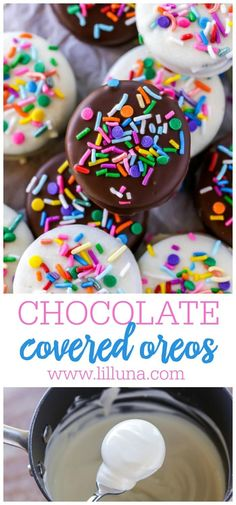 Chocolate Covered Oreos are super easy to make and delicious. Use any flavor of Oreos, and whatever chocolate coating you please! #oreos #chocolate #whitechocolate #dessert #treats Oreo Dessert Recipes, Easy Chocolate Desserts, Chocolate Dipped Oreos, Chocolate Coating, My Dessert, Candy Recipes, Melting Chocolate, Chocolate Recipes, Baking Recipes