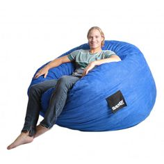 Bean Bag Chair Size: Large, Color: Royal Blue - http://delanico.com/bean-bag-chairs/bean-bag-chair-size-large-color-royal-blue-525977409/