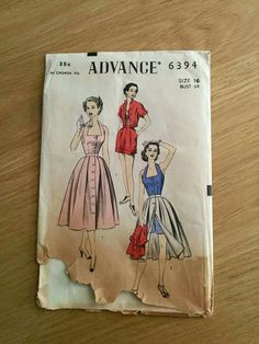 Pattern vintage butterick