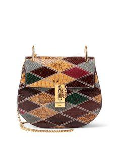 93636d1abb Chloe Drew Small Python Shoulder Bag, Multi Sac Valise, Sac À Main, Petit