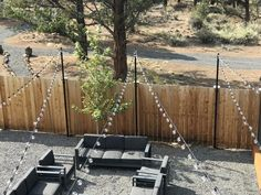 Pole – No Base -Hang String Lights to Railings or Fence Posts – String Lights Outdoor Backyard String Lights, Backyard Lighting, Outdoor Lighting, Hanging Patio Lights, Fence Lighting, Poles For Outdoor Lights, Canopy Lights, Lighting Ideas, Backyard Projects