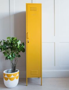 Mustard Made Lockers The Skinny Tall Locker - Mustard Yellow at Rose & Grey. Buy online now from Rose & Grey, eclectic home accessories and stylish furniture for vintage and modern living Storage Baskets, Locker Storage, Yellow Home Accessories, Locker Accessories, Accessories Store, Small Lockers, Fireplace Garden, Yellow Clothes, Hanging Rail