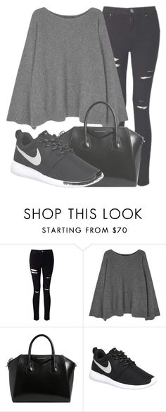 """""""Outfit #1475"""" by lauraandrade98 on Polyvore featuring moda, Miss Selfridge, The Row, Givenchy y NIKE"""