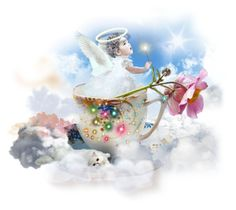 """""""Teacup Angel"""" by taniucha ❤ liked on Polyvore featuring art, angel and Teacup"""
