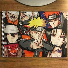 Tales of a Gutsy Ninja: Naruto Ninpo Handbook Naruto Vs Sasuke, Anime Naruto, Art Naruto, Naruto Sketch, Anime Echii, Naruto Drawings, Naruto Shippuden Anime, Sakura And Sasuke, Boruto