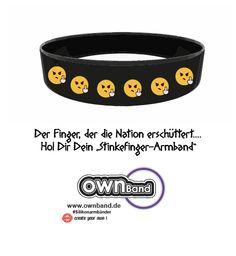 Gestalte jetzt dein individuelles Stinkefinger-Armband!!! #ownband #silikonarmbänder #fun #armband #diy #varoufake