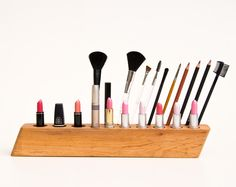 Makeup Organizer Cosmetic Organizer Wooden Makeup by lessandmore, $140.00