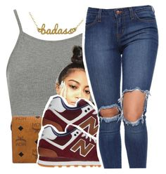 """""""7/18/16💕"""" by lookatimani ❤ liked on Polyvore featuring Topshop, MCM, New Balance and Kris Nations"""