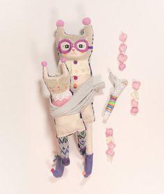 Lili  Stuffed Reclaimed Fabric Doll