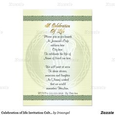 118 best celebration of life invitations images on pinterest celebration of life invitation celtic knot irish stopboris