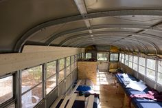 The Good Ship Anne Marie - Page 9 - School Bus Conversion Resources Bus House, Tiny House, Bus Camper, Campers, School Bus Conversion, Busses, Hoop, Ceiling, Good Things