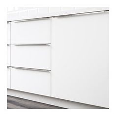 """IKEA - VEDDINGE, Door, 15x30 """", , VEDDINGE white is a smooth, sleek door that brings a bright and modern expression to your kitchen.Lacquered doors are smooth and seamless, resistant to moisture and staining and very easy to keep clean.25-year Limited Warranty. Read about the terms in the Limited Warranty brochure.You can choose to mount the door on the right or left side."""