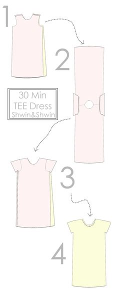 30 Min Tee Shirt Dress || Free PDF Pattern || ShwinShwin