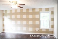 painted gingham wall