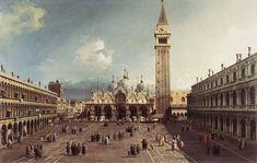 Piazza San Marco verso la Basilica (1735 circa, Cambridge (Massachusetts), Fogg Art Museum)