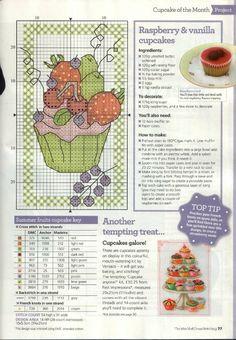 Cupcake Cross Stitch Chart                                                                                                                                                      Más