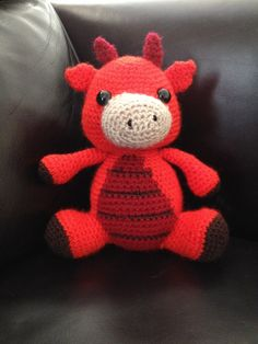 Crochet/amigurumi Idris the dragon for Rob and the fire service :)  Pattern courtesy of Little Muggles.   https://www.etsy.com/listing/162291114/amigurumi-crochet-pattern-spike-the?ref=shop_home_active
