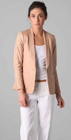 Vince Leather Blazer - StyleSays