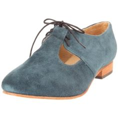 Fiel Women`s Brava Oxford,Blue Suede,9 M US