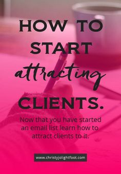Are you ready to start attracting people to your business? I've talked about why having an email list is so important, now it's time to start attracting potential clients to your list so that you can grow it. I'll show you how to do that so you can start increasing your income easily + quickly.