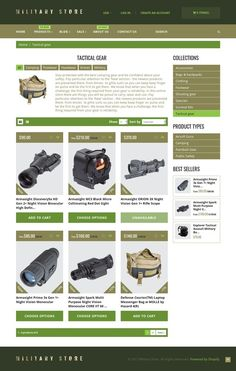 Military Shopify Theme E-commerce Templates, Shopify Themes, Society & People, Military Templates