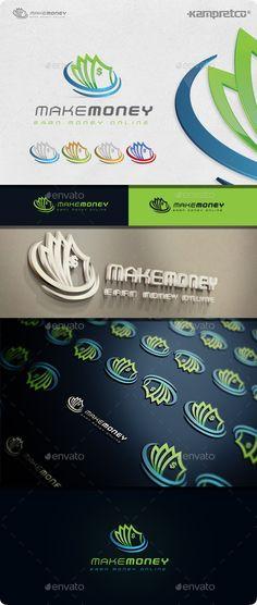 Make Money  Logo Design Template Vector #logotype Download it here: http://graphicriver.net/item/make-money-logo/11208136?s_rank=975?ref=nexion