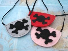 Arrrr! A pirate costume is not complete without an eye patch. These pirate eye patches are made from soft felt with a sturdy elastic