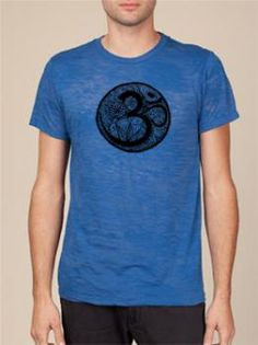 Mens Burnout OM Tee ~Find this and other Yoga Clothing at www.downdogboutique.com #YogaClothes #Yoga
