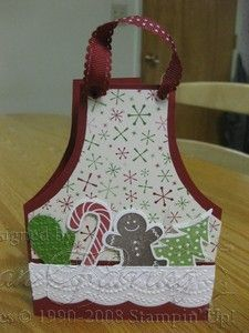 Day of 25 Days of Christmas Holiday Apron Card - Jan's Stamping Creations Christmas Aprons, 25 Days Of Christmas, Christmas Cards To Make, Christmas Paper, Xmas Cards, Handmade Christmas, Christmas Gifts, Holiday Cards, Cricut Christmas Cards