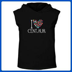 Idakoos - I love Centaur colorful hearts - Fantasy and Monsters - Hooded Sleeveless T-Shirt - Fantasy sci fi shirts (*Amazon Partner-Link)