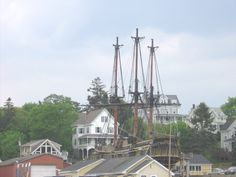 Ship repair HMS Bounty in Boothbay Harbor, Maine...she will be missed this summer...2013
