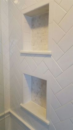 57 Amazing Small Master Bathroom Tile Makeover Design Ideas - Page 54 of 60 Bathroom Renos, Bathroom Renovations, Bathroom Interior, Bad Inspiration, Bathroom Inspiration, Regal Bad, Ideas Baños, Tile Ideas, Decor Ideas