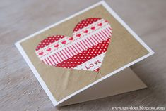 handmade WASHI TAPE VALENTINE'S DAY CARD from SAS does ... quick and simple ... important tips/directions on the blog ...
