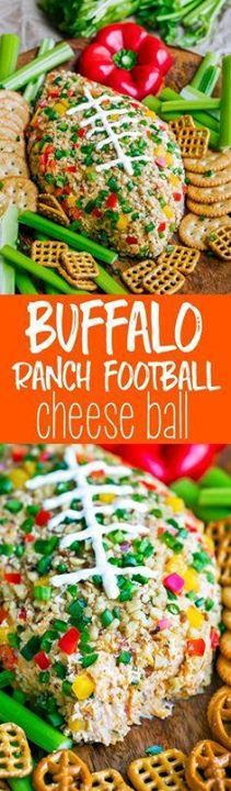 Youre guaranteed to Youre guaranteed touchdown status at...  Youre guaranteed to Youre guaranteed touchdown status at your next game day party with this Buffalo Ranch Football Cheese Ball! This crazy easy appetizer can be made in advance and is portable and DELICIOUS! Sponsored by Save-A-Lot Recipe : ift.tt/1hGiZgA And My Pinteresting Life | Recipes, Desserts, DIY, Healthy snacks, Cooking tips, Clean eating, ,home dec  ift.tt/2v8iUYW