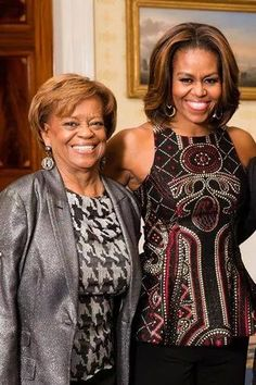Marian Robinson and her daughter First Lady Michelle Obama.