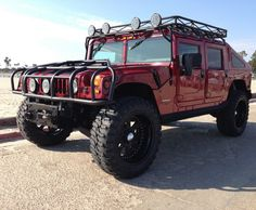 KING OF THE ROADS! Rare 2000 hummer h1 in Red! Stay out of this guys way… Check it out…  http://www.ebay.com/itm/Hummer-H1-slant-back-2000-hummer-h1-slant-back-1-of-39-original-made-in-the-world-many-upgrades-/161276275614?forcerrptr=true&hash=item258cd0ab9e&item=161276275614&pt=US_Cars_Trucks?roken2=ta.p3hwzkq71.bdream-cars