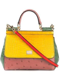 DOLCE & GABBANA Mini 'Sicily' Tote. #dolcegabbana #bags #shoulder bags #hand bags #leather #tote