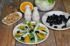 Il #contorno di #OmegaMe che profuma di primavera: insalata rucola, noci e finocchi.  I giusti #Omega3 e il giusto gusto.   Clicca e scopri la ricetta...