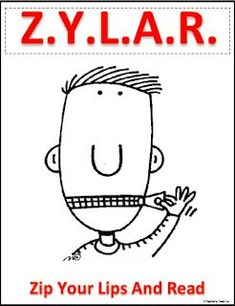Freebie: Zip Your Lips and Read