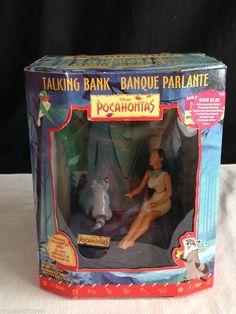 NEW & RARE Disney Pocahontas Grandmother Willow Talking Toy Mechanical BANK