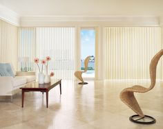 Custom Vertical Blinds for Windows, Patio Doors, Sliding Glass Doors House Blinds, Blinds For Windows, Window Blinds, Decor Blinds, Huge Windows, Room Window, Arched Windows, Bamboo Blinds, Wood Blinds