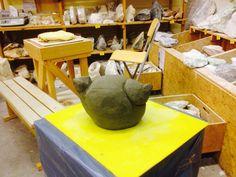 Eerste beton- uitprobeersel van Marcel ... Een dikke vogel