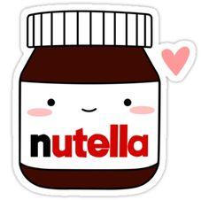 """Cute Nutella jar"" Stickers by cafebunny Stickers Kawaii, Cute Laptop Stickers, Kawaii Drawings, Cute Drawings, Printable Stickers, Planner Stickers, Emoji Tumblr Png, Overlays Tumblr, Kawaii Doodles"