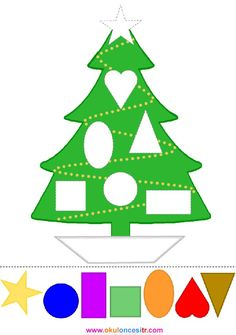 Christmas tree fun with colors and shapes preschool printable crafty cut and paste activity. Christmas Crafts For Kids, Kids Crafts, Christmas Events, Christmas Activities For Preschoolers, Christmas Tree Printable, Christmas Activities For Toddlers, Christmas Tree Template, Christmas Worksheets, Xmas Tree