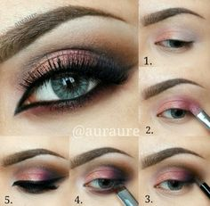 Plum smokey eye look - with a Step by step eyeshadow tutorial - perfect for #AW14...x