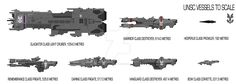 Halo UNSC ships by SplinteredMatt