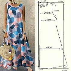 Tunic Sewing Patterns, Dress Making Patterns, Clothing Patterns, Blouse Pattern Free, Sewing Clothes, Diy Clothes, Clothes For Women, Couture Sewing, Fashion Sewing