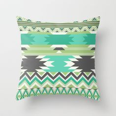 Aztec 3 Throw Pillow by Samantha Ranlet - $20.00